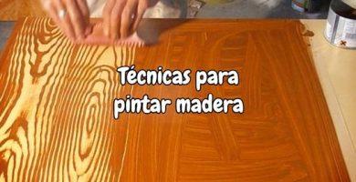 Técnicas para pintar madera