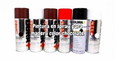 Pintura en spray para madera color chocolate