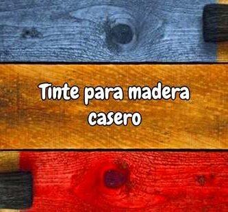 Tinte para madera casero