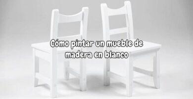 Como pintar un mueble de madera en blanco