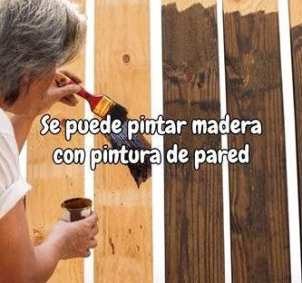 Se puede pintar madera con pintura de pared